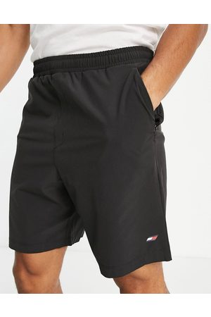 Tommy Hilfiger Performance shorts with flag logo in black