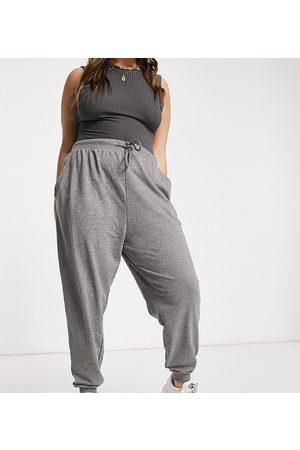 ASOS ASOS DESIGN Curve basic slim jogger in charcoal marl-Grey