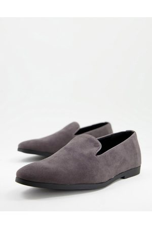 Truffle Collection Homem Oxford & Moccassins - Faux suede slip on loafers in grey-Brown