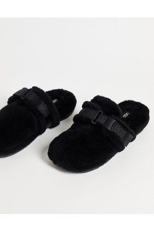 UGG Fluff it sheepskin slippers in black