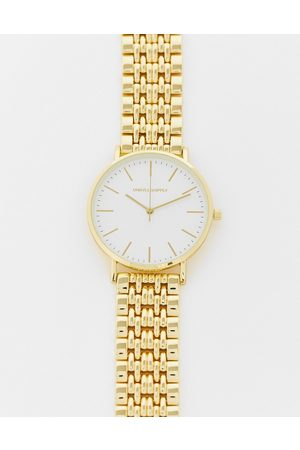 ASOS Homem Pulseiras - Bracelet watch with gold face in gold tone