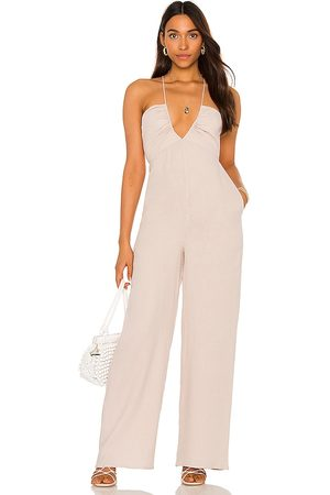 Tularosa Nora Jumpsuit in - Neutral. Size L (also in M, S, XL, XS, XXS).