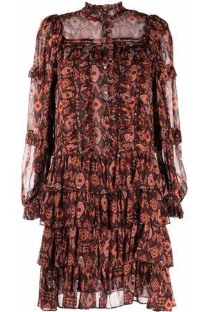 ULLA JOHNSON Geometric-print mini dress
