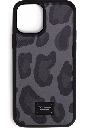Dolce & Gabbana Homem Phones - Leopard-print iPhone 12 case