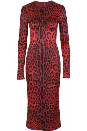 Dolce & Gabbana Leopard-print mid-length dress