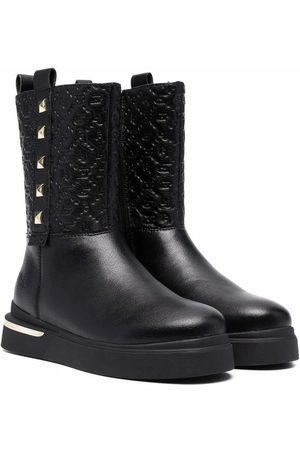 LIU JO Menina Botas de Cano Alto - Studded logo embossed boots