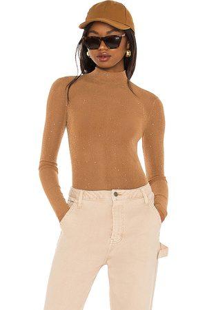 superdown Zoie Mesh Bodysuit in - Brown. Size L (also in XXS, XS, S, M, XL).