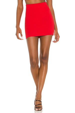 Cotton Citizen X REVOLVE Ribbed Mini Skirt in - Red. Size L (also in XS, S, M).