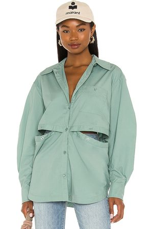 L'Academie The Nessa Blouse in - Sage. Size L (also in XXS, XS, S, M, XL).