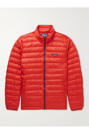 Patagonia Homem Casacos Outdoor - Quilted DWR-Coated Recycled Ripstop Down Jacket