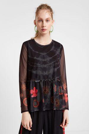 Desigual T-shirt floral transparências