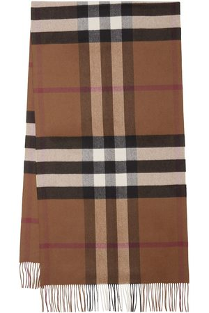 Burberry Oversized checked cashmere scarf