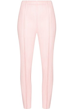 Pleats Please Issey Miyake August slim tapered trousers