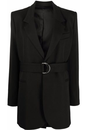 AMI Paris Single-breasted belted blazer