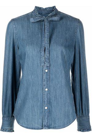 Polo Ralph Lauren Bow-fastening denim shirt