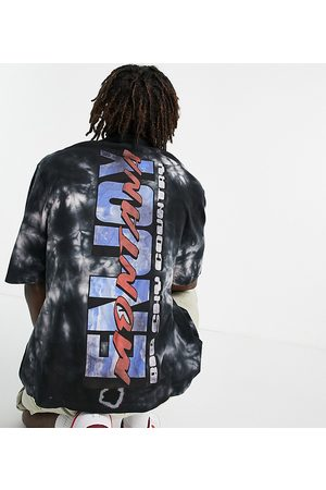 Collusion Homem Casual - Oversized pique shirt with enjoy print in tie dye-Multi