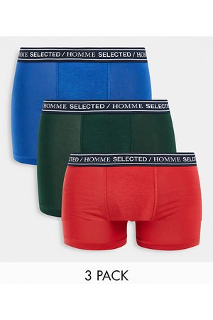 Selected Homme Homem Meias - 3 pack trunks with logo waistband in multi