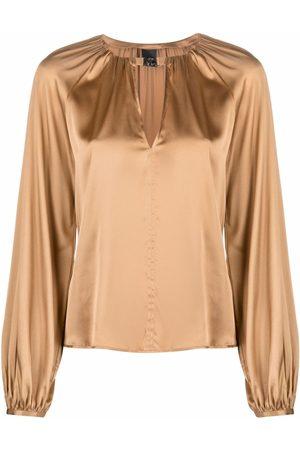 Pinko Senhora Blusas - Ruched silk blouse