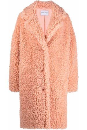STAND STUDIO Anika Cloudy Teddy single-breasted coat
