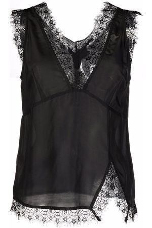 Pinko Senhora Tops & T-shirts - Lace-trim sleeveless top