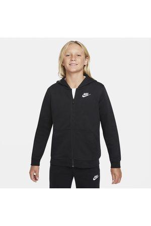 Nike Menino Camisolas com capuz - Hoodie em tecido moletão com fecho completo Sportswear Club Júnior (Rapaz)