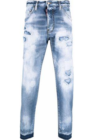 Dsquared2 Homem Slim - Acid-wash slim-fit jeans
