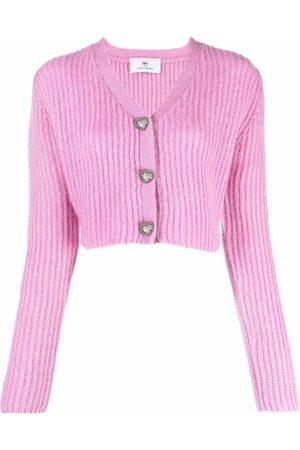 Chiara Ferragni Heart-shaped button cardigan