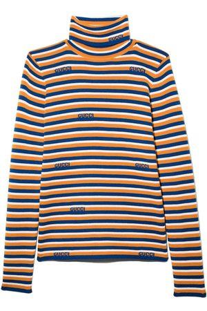 Gucci Kids Menino Camisolas - Striped long sleeve jumper