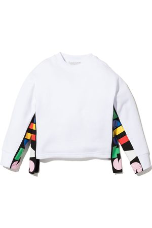 Stella McCartney Kids Logo-tape cotton sweatshirt