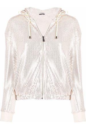 Pinko Senhora Tops de Cavas - Sequin-embellished track jacket