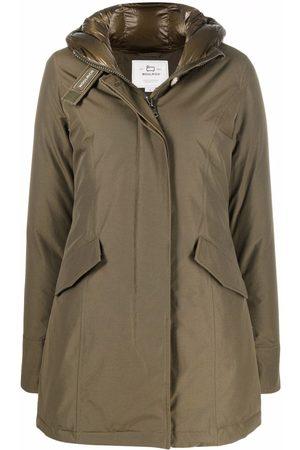 Woolrich Hooded cotton-blend parka coat