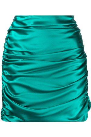 Michelle Mason Silk gathered mini skirt