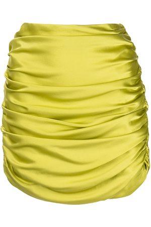 Michelle Mason Senhora Mini-saias - Gathered mini skirt