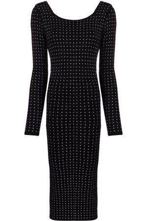 Pinko Studded long-sleeve midi dress