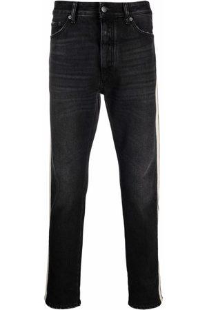 Palm Angels Homem Slim - Side striped slim-fit jeans