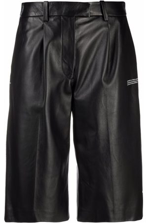 OFF-WHITE LEATHER FORMAL SHORTS NO COLOR