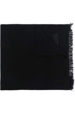 Moschino Logo-embroidered cashmere scarf