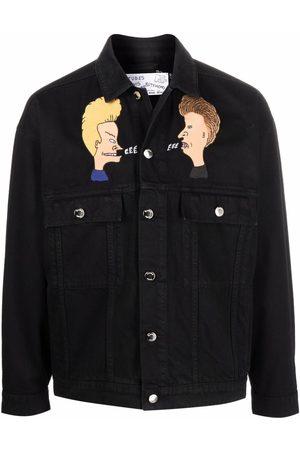 Etudes Homem Casacos - Graphic print denim jacket