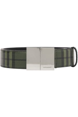 Burberry Check leather belt