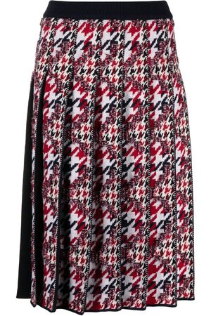 Thom Browne Houndstooth-jacquard pleated skirt