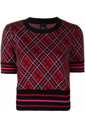 Pinko Argyle knitted top