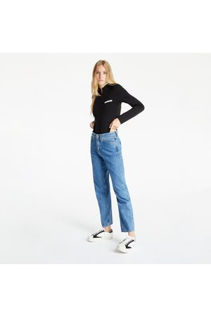 Calvin Klein Senhora Bodies interiores - Micro Flock Half Zip Body Ck