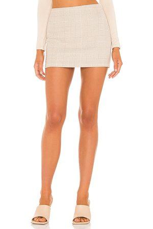 L'Academie Natalia Mini Skirt in - Tan. Size L (also in M, S, XL, XS, XXS).