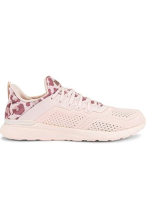 APL: Athletic Propulsion Labs TechLoom Tracer Sneaker in Creme Beachwood & Leopard - Cream. Size 10 (also in 6, 6.5, 7, 7.5, 8, 8.5, 9, 9.5).