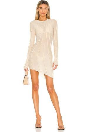 SAMI MIRO VINTAGE Asymmetric Mesh Mini Dress in - . Size XS (also in L, M, S).