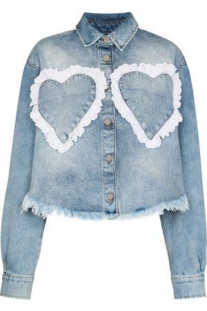 Natasha Zinko Heart pocket denim shirt