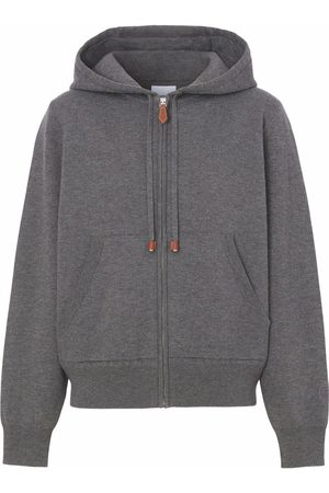 Burberry Zipped cashmere-cotton hoodie