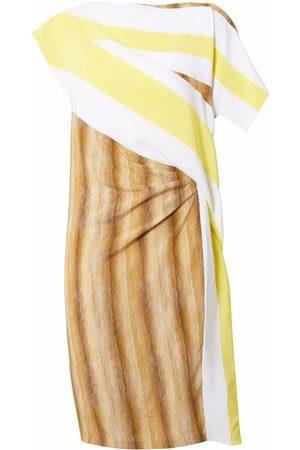 Burberry Graphic-print asymmetric dress