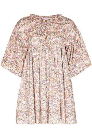 Kika Vargas Maty floral-print minidress