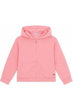 Dolce & Gabbana Kids Menina Camisolas com capuz - Zip-front cotton hoodie